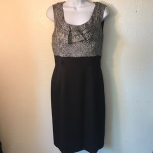 Tahari ASL Ruffled Neck Dress size 4